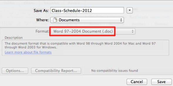 Word 97-2004 File Format