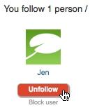 Unfollow Following