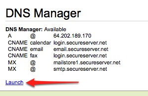 Launch DNS Manager