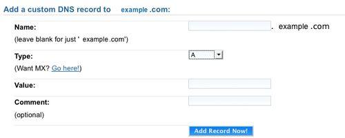 Add Custom DNS Record