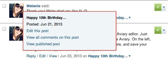 Edit Comment Status Per Post