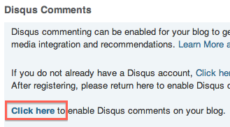 Enable Disqus