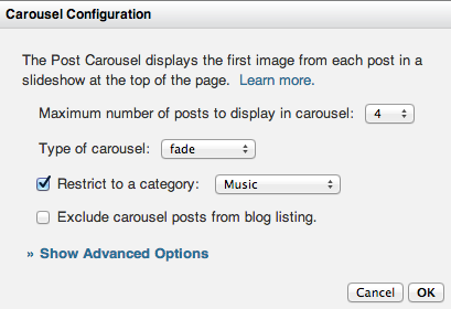 Carousel Basic Options