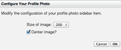Configure Your Profile Photo