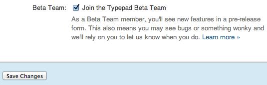 Typepad Knowledge Base: Join the Beta Team