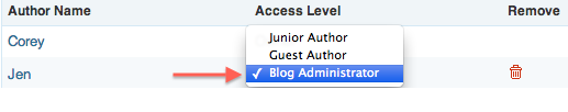 Change Access Level