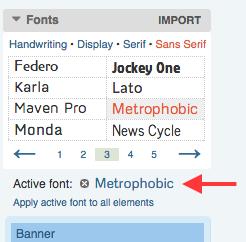 Active Font