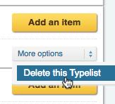 Delete Typelist