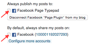 Always Publish to Facebook