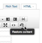 Restore Content