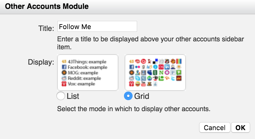 Other Accounts Module